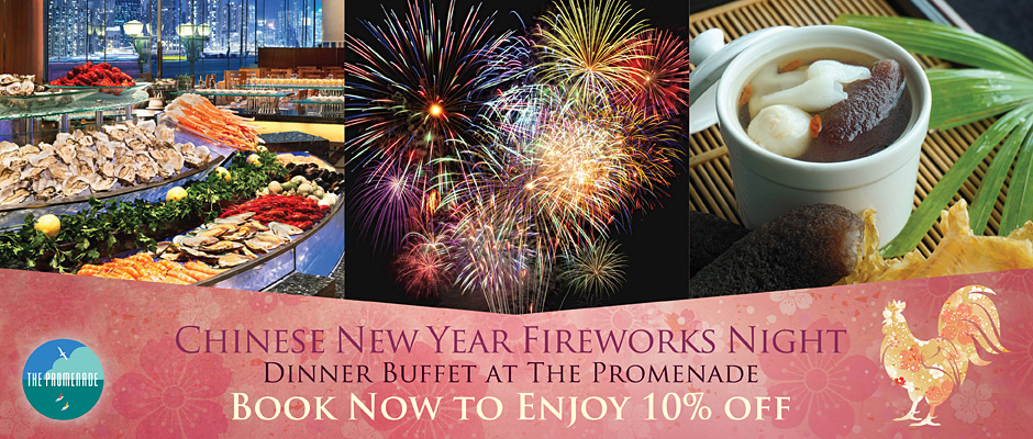 CNY Fireworks Buffet 10 off